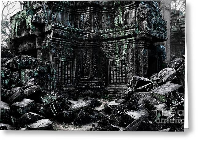 Ta Prohm Greeting Card by Julian Cook
