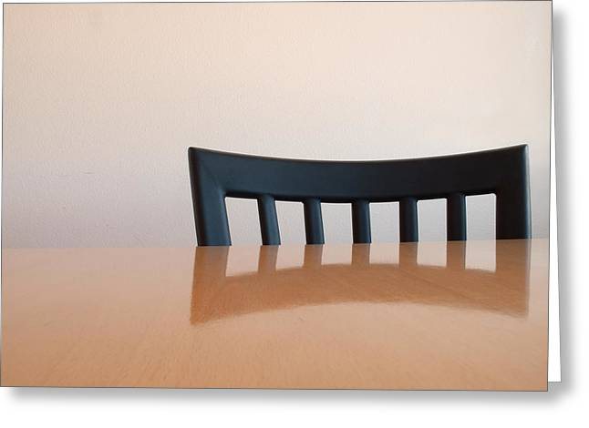 Table And Chair Greeting Card by Don Spenner