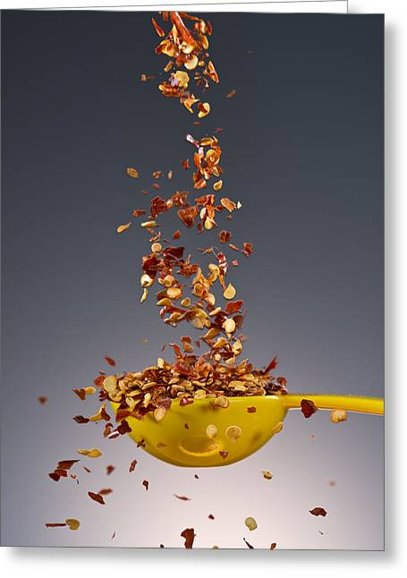 1 Tablespoon Red Pepper Flakes Greeting Card by Steve Gadomski