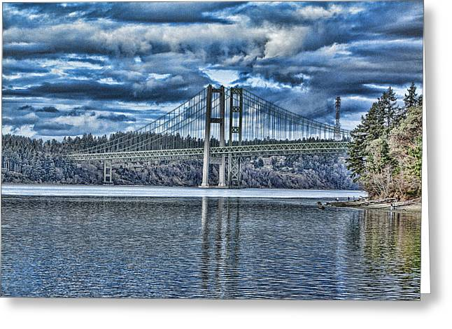 Tacoma Narrows Bridge Greeting Card