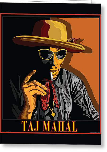 Taj Mahal Greeting Card by Larry Butterworth