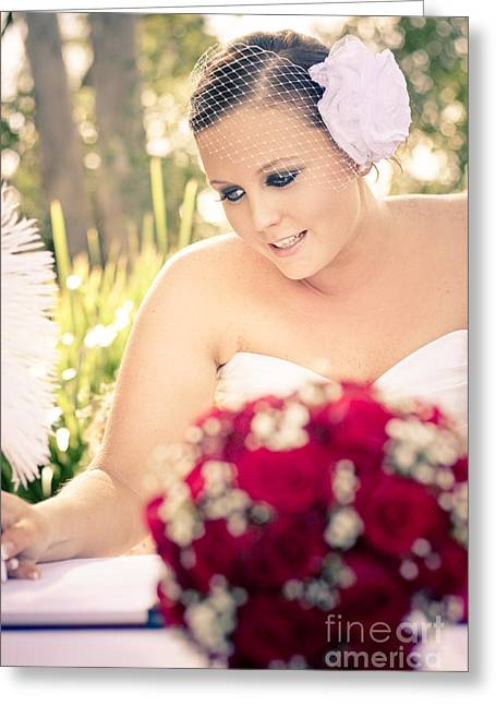 Taking Marriage Seriously Greeting Card by Jorgo Photography - Wall Art Gallery