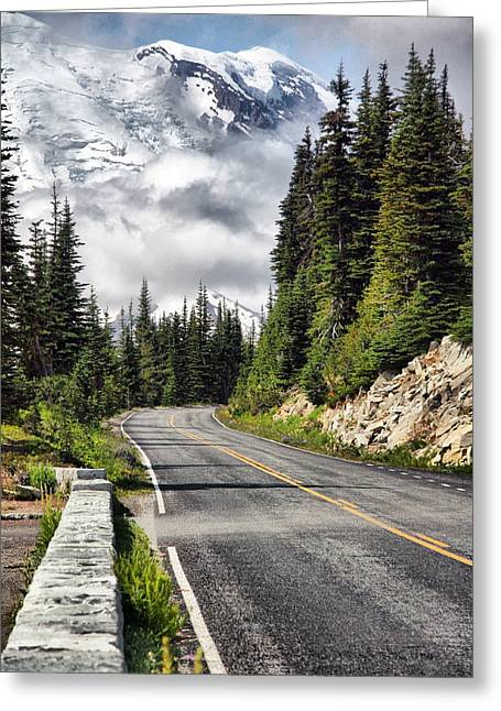 Greeting Card featuring the photograph Taking The High Road by Bob Noble Photography
