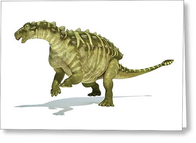 Talarurus Dinosaur Greeting Card by Leonello Calvetti