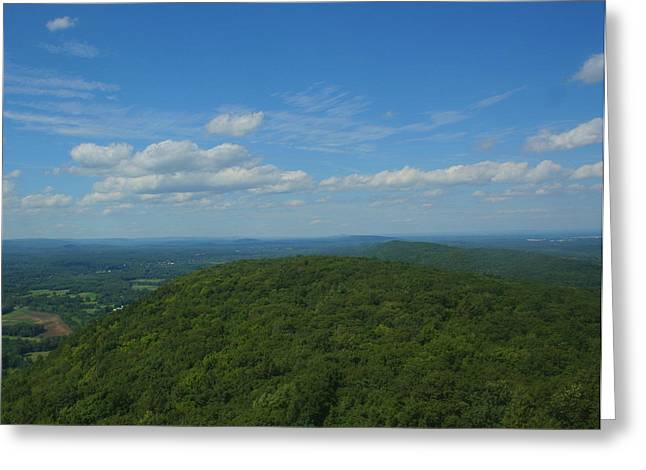Talcott Mountain High Greeting Card by Stephen Melcher