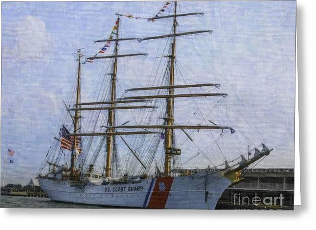 Tall Ship Barque Eagle  Greeting Card