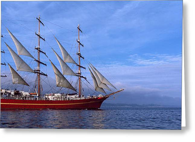 Tall Ships Race In The Ocean, Baie De Greeting Card by Panoramic Images