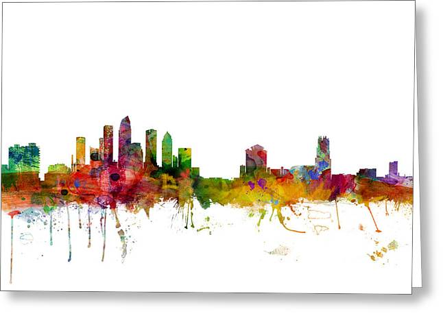 Tampa Florida Skyline Greeting Card