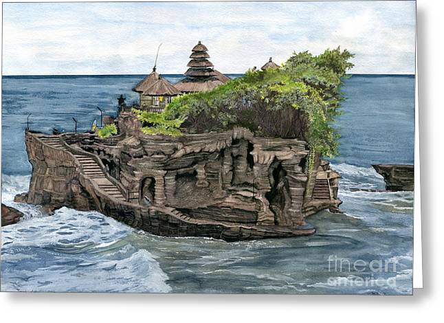 Tanah Lot Temple Bali Indonesia Greeting Card