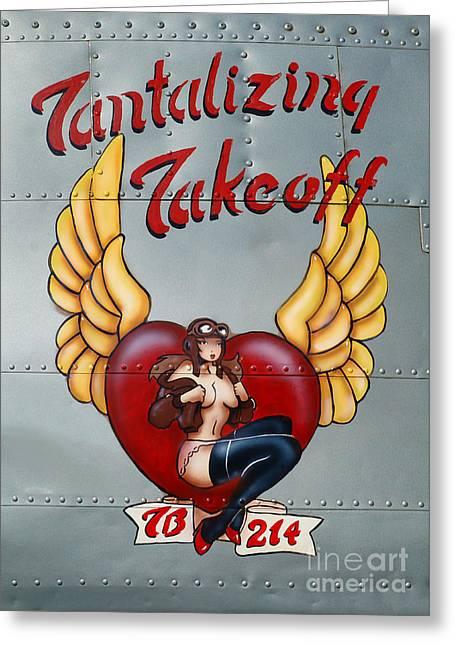 Beechcraft Tantalizing Takeoff Greeting Card