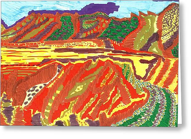 Taos Valley Greeting Card by Don Koester