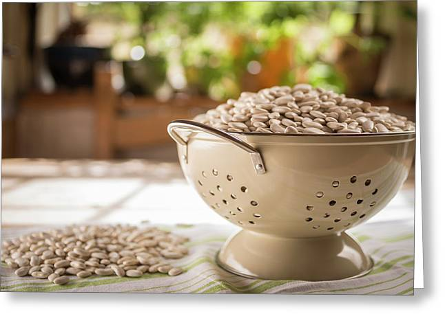 Tarbais Beans In A Colander Greeting Card by Aberration Films Ltd