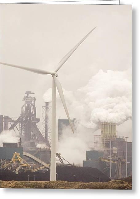 Tata Steel Works Greeting Card