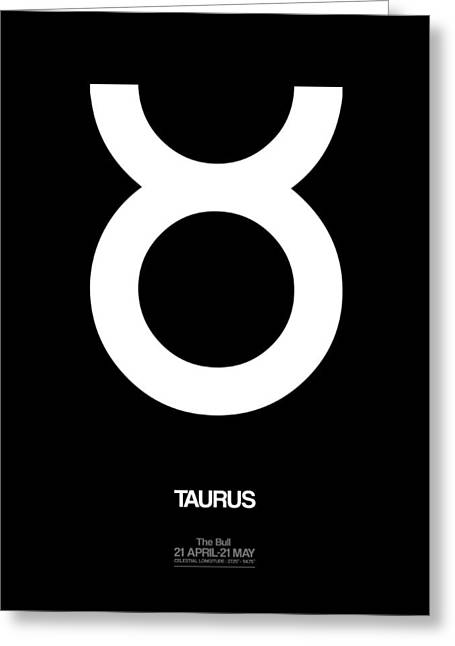 Taurus Zodiac Sign White Greeting Card