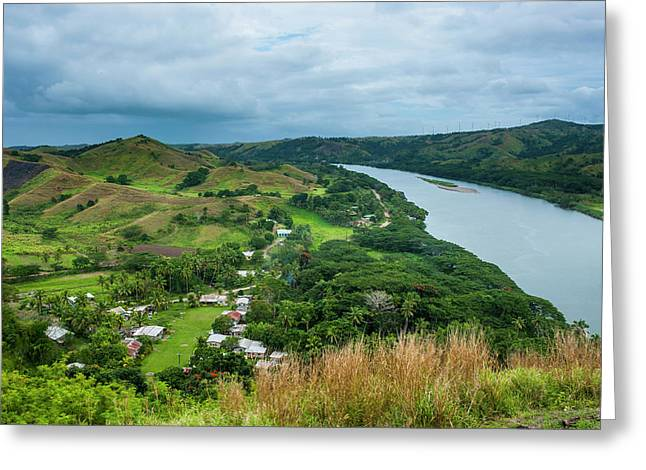 Tavuni Hill Fort Overlooking Greeting Card by Michael Runkel