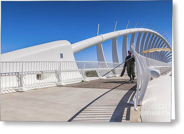 Te Rewa Rewa Bridge Taranaki New Zealand Greeting Card by Colin and Linda McKie