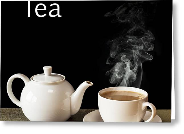 Tea Concept Greeting Card by Colin and Linda McKie