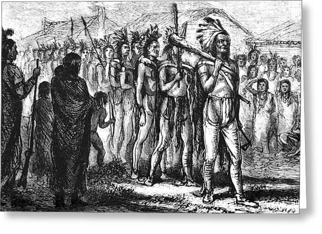 Tecumseh, Shawnee Indian Leader Greeting Card by British Library
