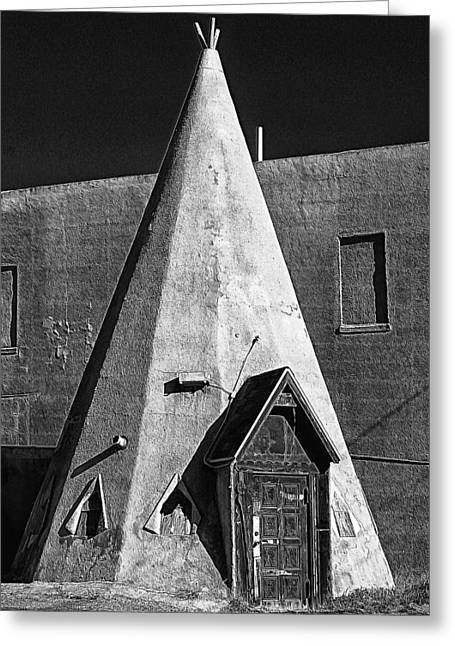Teepee House Greeting Card by Ron Regalado