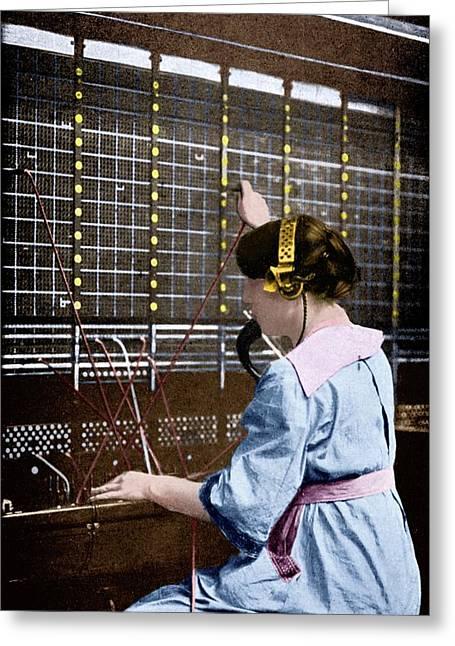Telephone Switchboard Operator Greeting Card