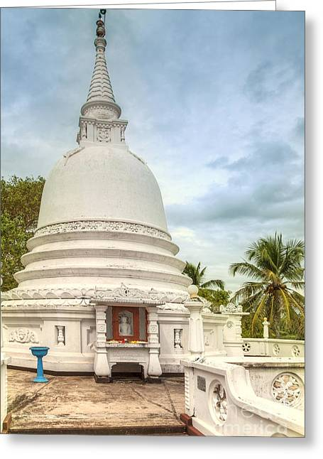 temple complex at the tropical island Sri Lanka Greeting Card by Gina Koch