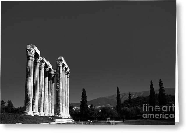 Temple Of Zeus Greeting Card by Gabriela Insuratelu