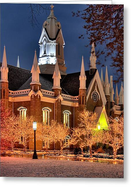 Temple Square Salt Lake City Utah Greeting Card by Utah Images