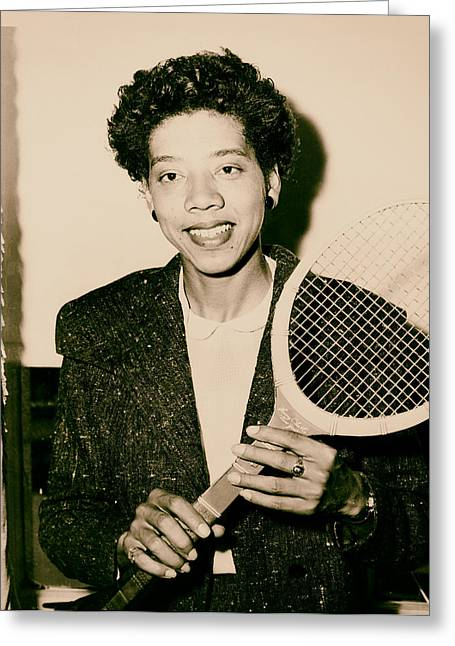 Tennis Great Althea Gibson 1956 Greeting Card by Mountain Dreams