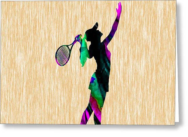 Tennis Greeting Card by Marvin Blaine