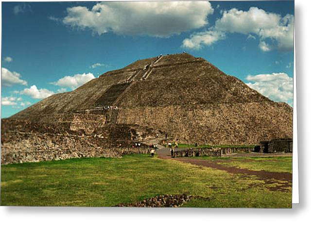 Teotihuacan Pyramids Archaeological Greeting Card