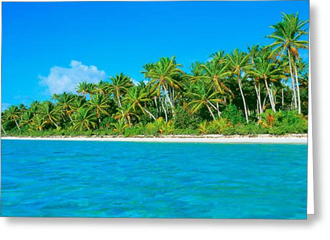 Tetiaroa Atoll French Polynesia Tahiti Greeting Card by Panoramic Images