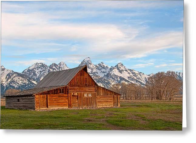 Teton Barn Greeting Card by Steve Stuller