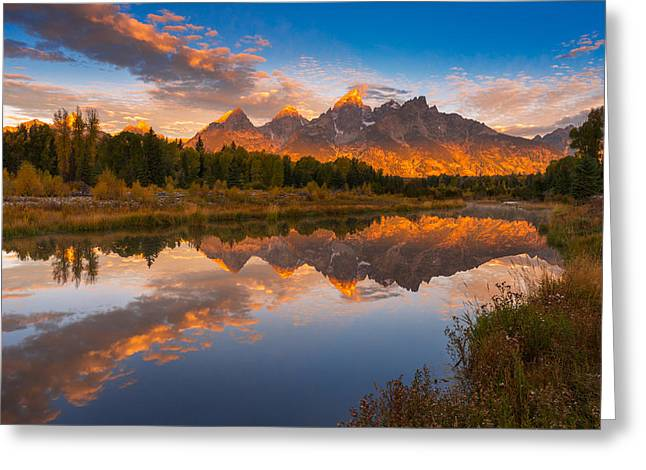 Teton Morning Mirror Greeting Card