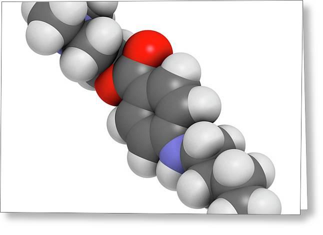 Tetracaine Local Anesthetic Drug Molecule Greeting Card