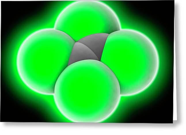 Tetrachloroethylene Molecule Greeting Card by Laguna Design