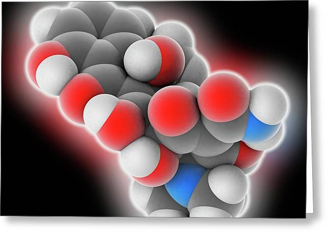 Tetracycline Drug Molecule Greeting Card by Laguna Design