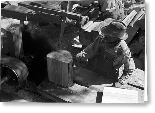 Texas Saw Mill, 1939 Greeting Card
