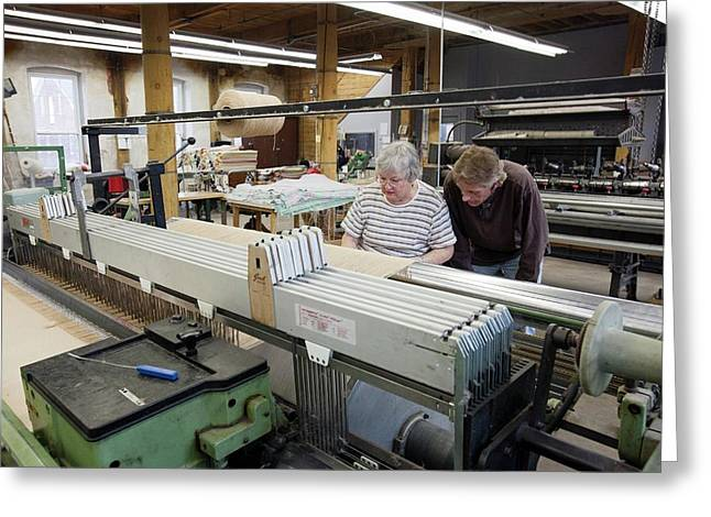 Textile Mill Loom Operator Training Greeting Card by Jim West