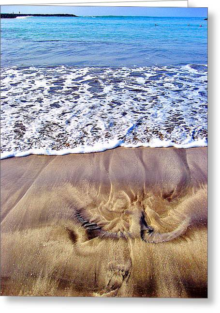 Texture Canary Islands. Greeting Card