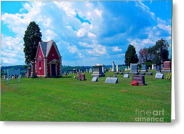 Greeting Card featuring the photograph Fryburg Cemetery by Gena Weiser