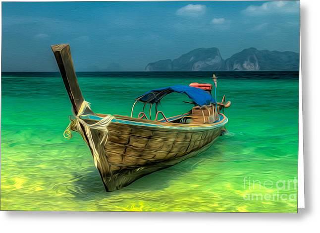 Thai Longboat Greeting Card