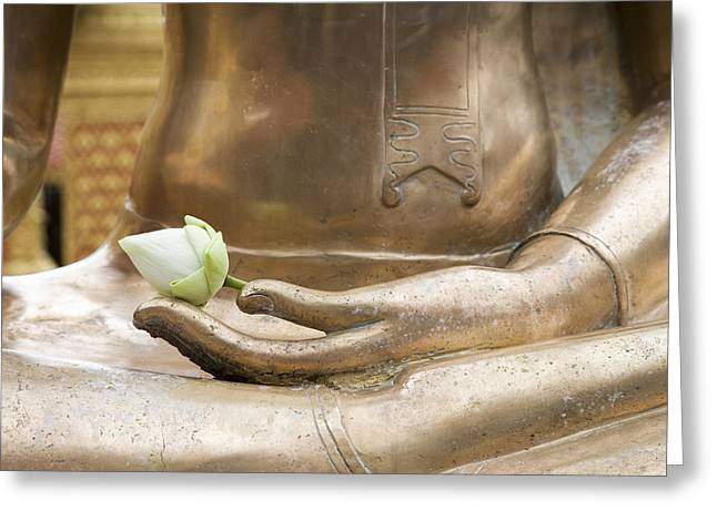 Thailand, Chiang Mai, Buddhist Temple Greeting Card by Tips Images