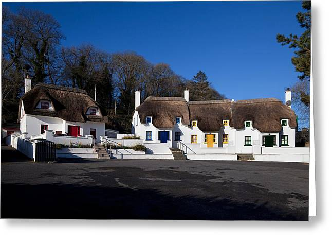Thatched Cottages Near Dunmore Strand Greeting Card