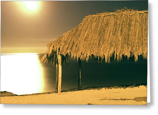 Thatched Roof On The Beach, Windansea Greeting Card