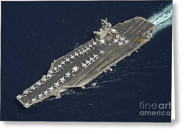 The Aircraft Carrier Uss Dwight D Greeting Card