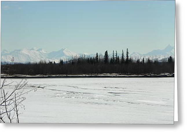 The Alaska Range Greeting Card by Jennifer Kimberly
