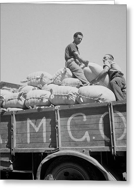 The Allied Military Government Supplies Greeting Card by Stocktrek Images
