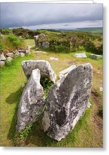 The Ancient Chysauster Settlement Greeting Card by Ashley Cooper