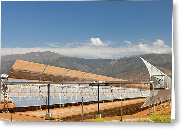 The Andasol Solar Power Station Greeting Card by Ashley Cooper