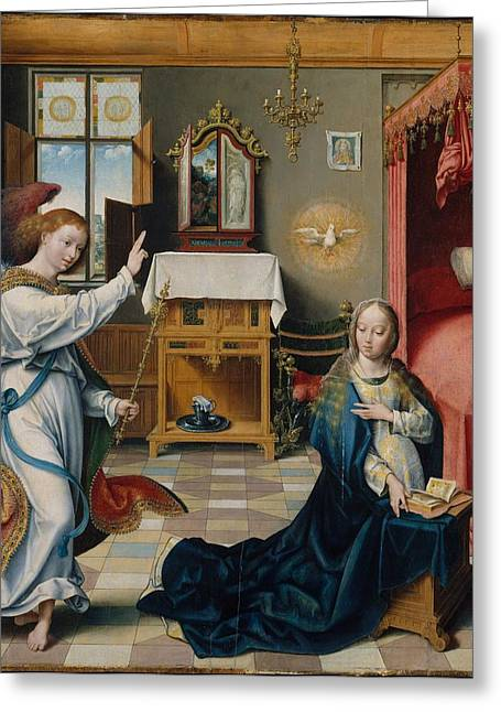 The Annunciation Greeting Card by Celestial Images